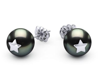 Tahitian Pearl Star Studded Earring