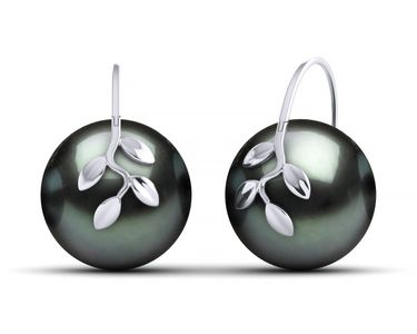 Tahitian South Sea Pearl Olive Branch Earring