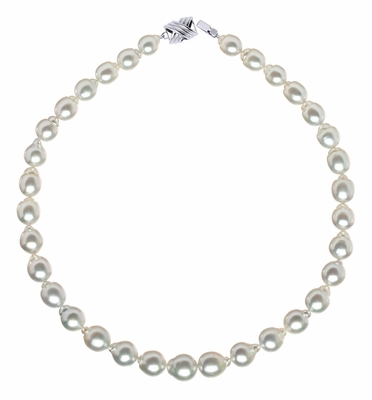 White South Sea Baroque Pearl Necklaces