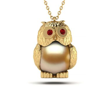 Wise Owl Pearl Pendant