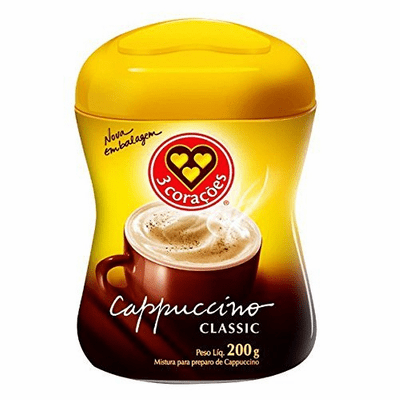 3 Coracoes Cappuccino Classic 200 grs
