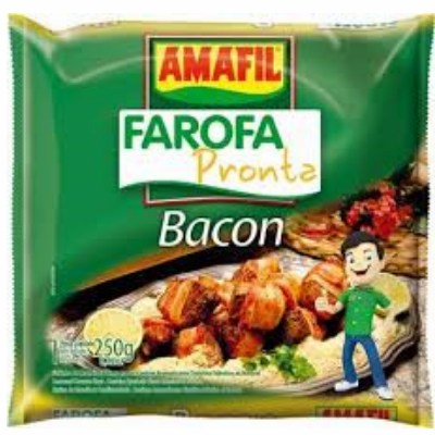 Amafil Farofa Pronta Bacon (Seasoned Cassava Flour) bag 250g (8.82oz)