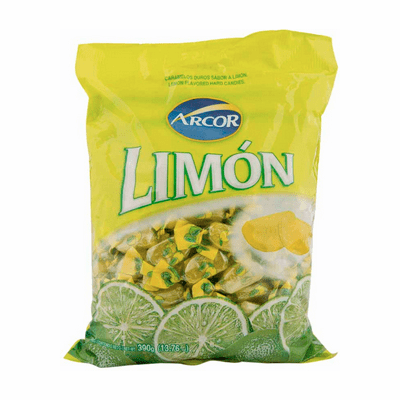 Arcor Lemon Flavored Hard Candies Containing 100 units 390g
