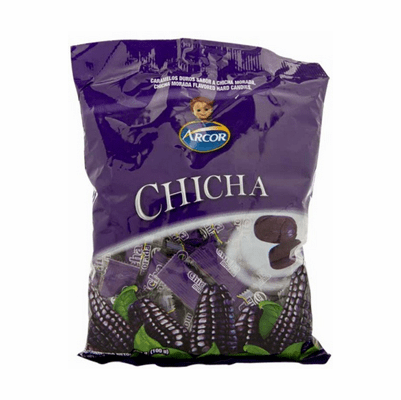 Arcor Purple Corn Flavored Hard Candies 360g Containing 100 units