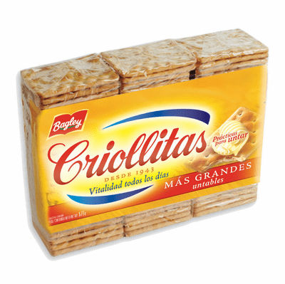 Bagley Criollitas Galletitas 3 Pack 100g each