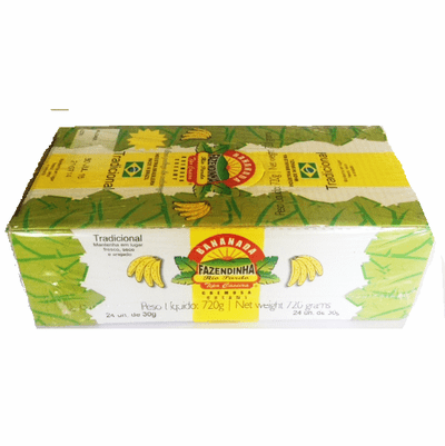 Bananada Fazendinha Tipo Casero Box 720 containing 24 units of 30 grs each