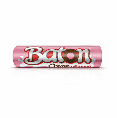 Baton Garoto Creme Morango (Chocolate with Creamy Strawberry Flavour) Milk Chocolate 30x0.56oz.- 480g