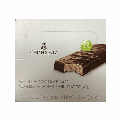 Cachafaz Whole Brown Rice Bars Covered with Real Dark Chocolate Net Wt 336g