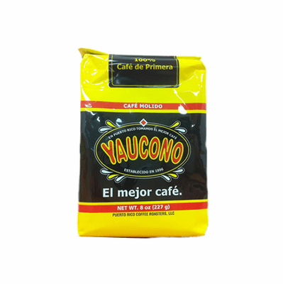 Cafe Yaucono Ground Coffee Cafe Molido 8 oz.