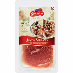 CAMPOFRIO Jamon Serrano Classic Spanish Ham, Dry Cured And Aged For Deep Flavor Net.Wt 3 oz