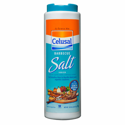 Celusal Barbecue Salt Iodized Net Wet 35oz (1kg) Industria Argentina