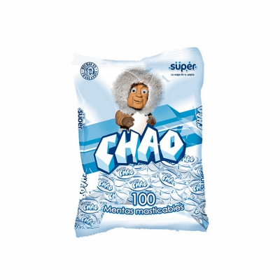 Chao Mentas - Mint Chewy Candy ( Caramelo Masticable Sabor A Menta 100 Unidades) Net.Wt 380G