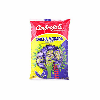 Chicha Morada Purple Corn Hard Candy Ambrosoli 100 units 390g