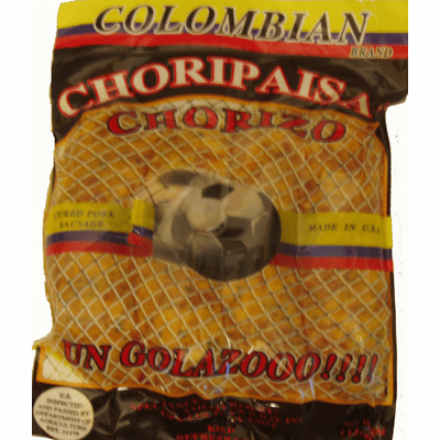 COLOMBIAN Choripaisa Chorizo 4  Bags of 16 oz Each