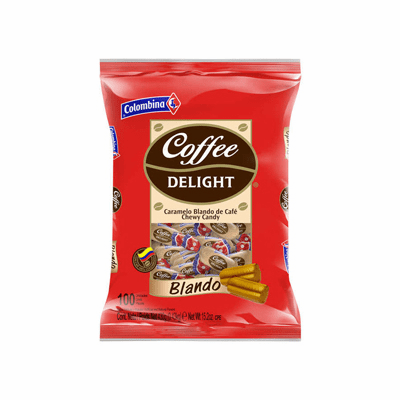 Colombina Coffee Delight Caramelo Blando de Cafe (Chewy Candy) 100 pieces 430g