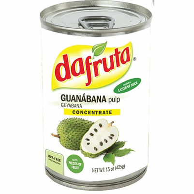 Dafruta Guanabana Soursop Pulp Concentrate with Pieces of Fruit (Contains 70% Juice)NET WT 15oz