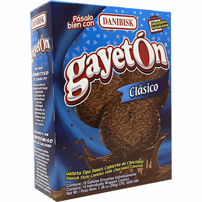 Danibisk Gayeton Clasico (10  individually wrapped cookies )Net.Wt 200 Gr