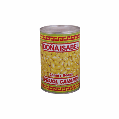 Dona Isabel Frijol Canario (Canary Beans Whole in Brine) Net.Wt 15 oz