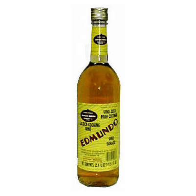 Edmundo Vino Seco Para Cocinar, Vino Dorado (Golden Cooking Wine) 750ml