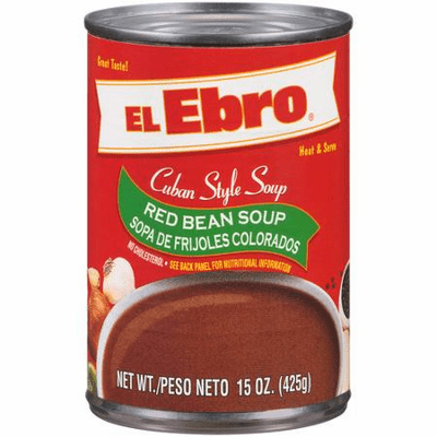 El Ebro Cuban Style Soup Red Bean Soup - Sopa de Frijoles Colorados 15 oz