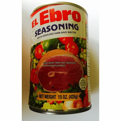 El Ebro Sofrito con Jamon y Bacon Molidos (Seasoning with Ground Ham and Bacon) 15oz can