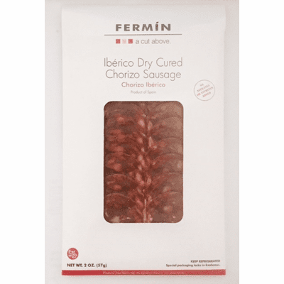 Fermin Chorizo Iberico (Iberico Dry Cured Sliced Chorizo) package 4 oz (114 g) Refrigerate after opening