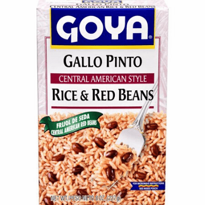 Goya Gallo Pinto - Central American Style Rice & Red Beans 8oz