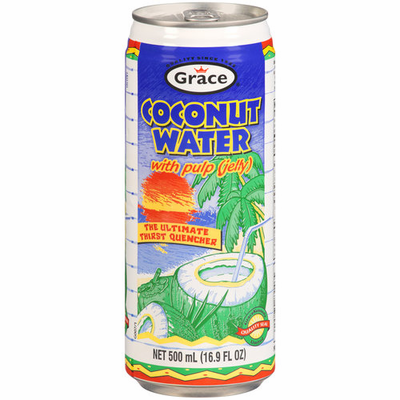 Grace Agua de Coco con Pulpa  (Coconut Water with Pulp) NET 520ml (17.5oz)