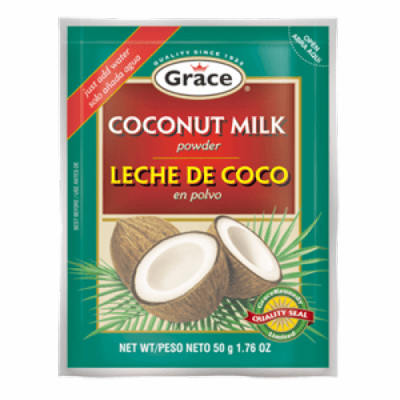 Grace Leche de Coco (Coconut Milk Powder)  Net WT 1.76oz