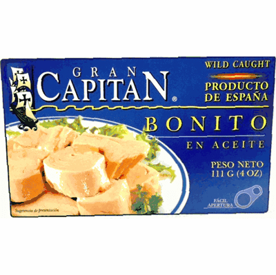 Gran Capitan Bonito en Aceite (Tuna Fish in Oil) Product of Spain 4 oz