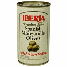 Iberia Aceitunas Espanolas Rellenas de Anchoas (Olives with Anchovy Stuffing) 5.2oz