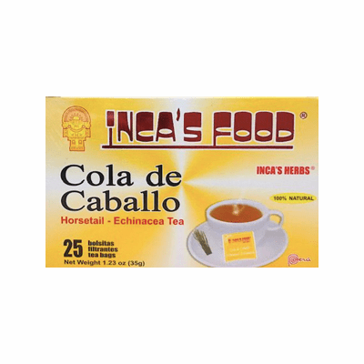 Inca's Food Cola De Caballo - Horsetail- Echinacea Tea Net.Wt 35g 25 tea bags