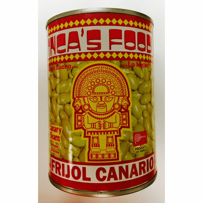 Inca's Food Frijol Canario (Canary Beans Whole in Brine) 20oz