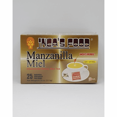 Inca's Food Manzanilla Con Miel containing 25 bags