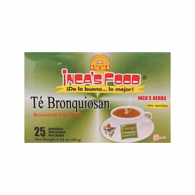 Inca's Food Te Bronquiosan ( Bronchial Aid Blend ) Net. Wt 25g 25 tea bags