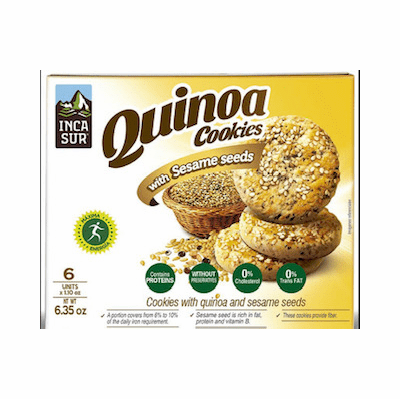 Inca Sur Cookies With Quinoa And Sesame Seeds Net.Wt 6.35 oz