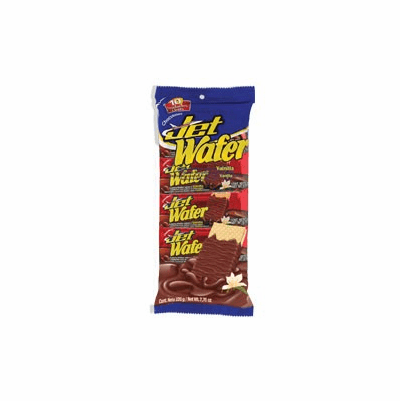 Jet Wafer Sabor Vainilla Recubierta con Sabor a Chocolate (Chocolate Flavor Covered Wafer with Vainilla) Package 7.76 oz containing 10 units Colombia