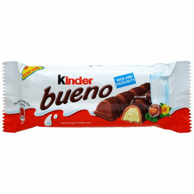 Kinder Bueno Milk and Hazelnuts Net.Wt 43g