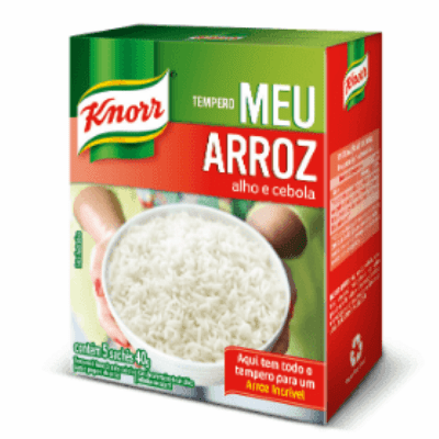 Knorr Tempero Meu Arroz alho e cebola (Rice Seasoning Garlic and Onion) 40g