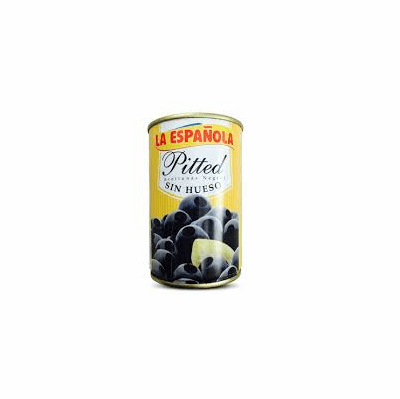 La Espanola Pitted Olives ( Aceitunas Negras Sin Hueso) Net.Wt 300g