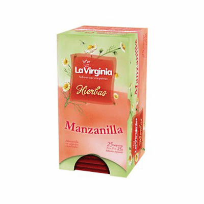 La Virginia Hierbas Manzanilla Containing 25 Tea Envelopes - 25g