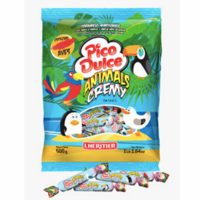 Lheritier Pico Dulce Animals Cremy ( Caramelo Masticable ) Net. Wt 500g