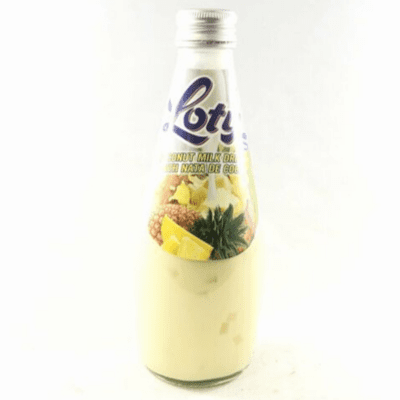 Loty Coconut Milk Drink With Nata De Coco Net. Wt 9.8 oz