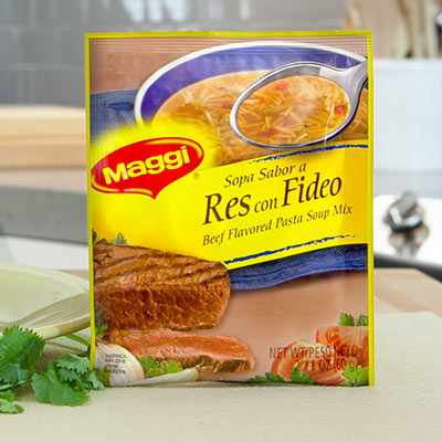 Maggi Sopa Sabor a Res Con Fideos ( Beef Flavored Noddle Soup Mix ) Net. Wt 2.11 oz
