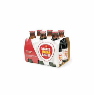MALTA INDIA LIGHT  6 Pack 7 oz Bottles