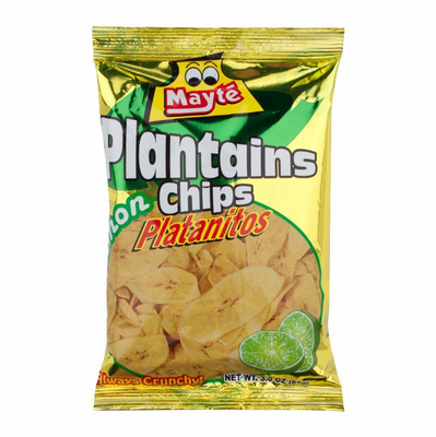 Mayte Plantains Chips Lemon - Platanitos con Sabor a Limon 3 oz