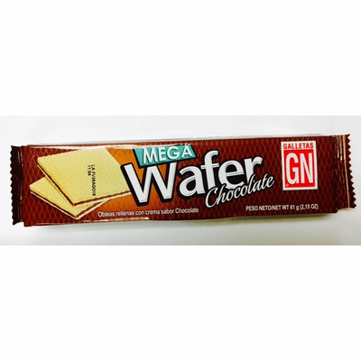 Mega Wafer Chocolate (Wafers Filled with Chocolate Cream Flavored ) Package 61g