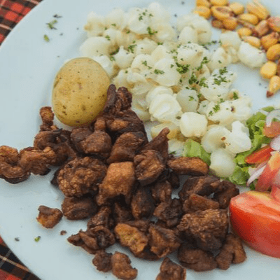 Mote con Chicharron Recipe | Receta Mote con Chicharron