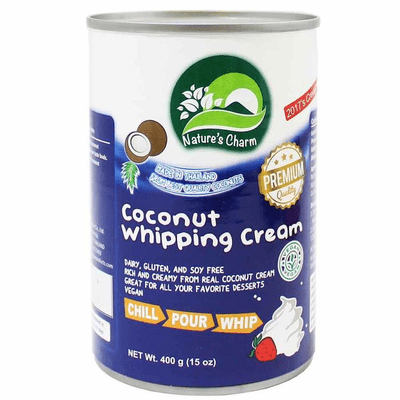 Natures Charm Coconut Whipping Cream Net.Wt 13.5 oz