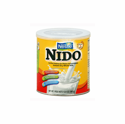 Nestle Nido Instant Whole Powdered Dry Milk (Leche Entera En Polvo) 12.6 oz
